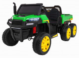 Cumpara ieftin Buggy electric cu bena pentru 2 copii Premier 4x4 Hygge Truck, 6 roti cauciuc EVA, scaun piele ecologica, verde