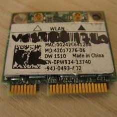 Placa wireless laptop Dell Vostro 1720, DW 1510, 0PW934, Broadcom BCM94322HM8L