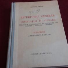 REPERTORIUL GENERAL AL LEGISLATIEI IN VIGOARE 1957 1958