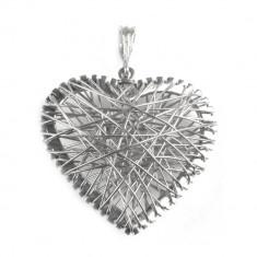 Pandantiv Crazy Heart, Argint 925, 3.5 x 2.6 cm