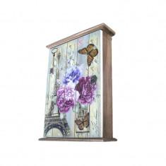 Cutie de lemn - suport pentru chei