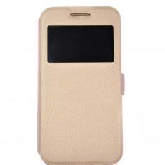 Husa FlipCover Book Samsung Galaxy J5 2016 j510 Fashion Gold S-View, Piele Ecologica, Cu clapeta