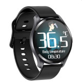 Smartwatch Bluetooth cu termometru, nivel oxigen, nivel imunitate, tensiune, 15 functii, iOS/Android, LCD tactil 1.28""