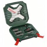 Set 54 accesorii Bosch X-line, biti, adaptor magnetic, surubelnita, burghie zidarie, metal si lemn