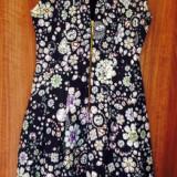 Shop my closet! Rochie bleumarin cu pietre prețioase imprimate Zara, 34, Multicolor