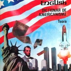 American english. Dictionar de americanisme