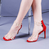 Sandale dama Alexia rosii