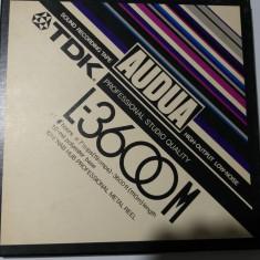 TDK- Banda AUDUA L3600M, Prof.Studio Quality, rola NAB Alu 26,5cm Prof. Reel