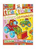 Tractoare, buldozere și camioane. Carte de colorat