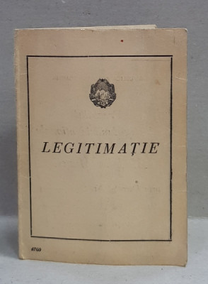 LEGITIMATIE ELIBERATA DE PREZIDIUL MARII ADUNARI NATIONALE , R.P.R. , DOMNULUI MIHALACHE CTIN ., MEDALIAT CU ' MEDALIA MUNCII ', 21 AUGUST 1954 foto