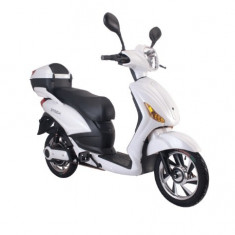 Bicicleta electrica, tip scuter, fara carnet si inmatriculare ZT-09-C CLASSIC ALB