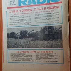 revista tele-radio saptamana 11-17 iulie 1982