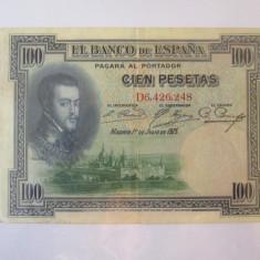 Spania 100 Pesetas 1925