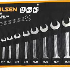 Set de 12 chei de piulite cu capat deschis dublu Cr-V Tolsen 15165