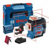Bosch GLL 3-80 C + BM 1 Nivela laser cu linii, 30m, receptor 120m, precizie 0.2mm/m + 1 x Acumulator GBA 12V 2.0Ah + Incarcator rapid GAL 1230 CV + L-