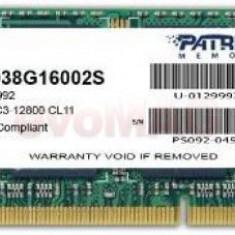 Memorie Laptop Patriot SODIMM, DDR3, 1x8GB, 1600 MHz, CL11