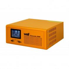 Cumpara ieftin Sursa UPS Well pentru centrale termice, IP20, pur sinus, 230V ,300W ,UPS, functie incarcare baterie