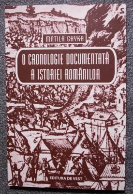 Matila Ghyka - O cronologie documentată a istoriei românilor: din preistorie azi foto