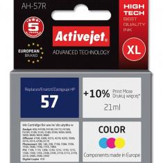 Cartus compatibil 57 Color pentru HP, 21 ml, Premium Activejet, Garantie 5 ani