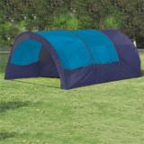 VidaXL Cort camping textil, 6 persoane, albastru închis și albastru