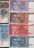 Set / lot 30 bancnote dinari Iugoslavia / Hiperinflatia 90 - 94 starea din scan, Europa