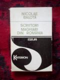 W1 Nicolae Balota - Scriitori maghiari din Romania