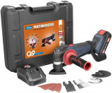 Cumpara ieftin Masina de slefuit multifunctionala cu acumulator si accesorii Guede GUDE58516, 18 V, 2.0 Ah, 20000 rpm