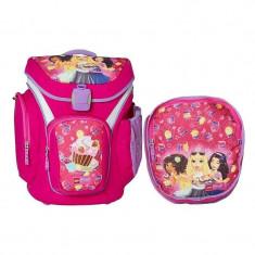 Ghiozdan scoala Explorer + sac sport, LEGO Core Line - roz Friends Cupcake