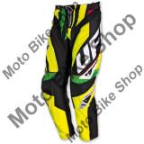 MBS Pantaloni motocross Ufo Plast Century, negru/galben, marime EU 52, Cod Produs: PI04383D52