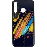 Cumpara ieftin Husa Capac Spate Color Glass Pattern 5 Multicolor Huawei P30 Lite, Star