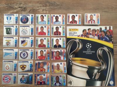 Panini Champions League 2014-15 Album gol + 75 stickere nelipite foto