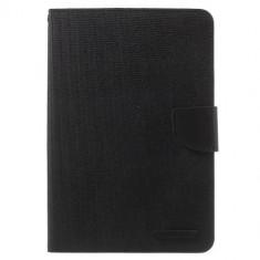Husa iPad mini 2 / 3 - Canvas Diary Book Type Magnetic Negru