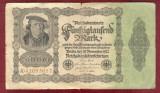 Bancnota Germania  -  REICHSBANKNOTE   - 50.000 MARK  1922