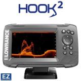 Sonar Lowrance Hook2-5x SplitShot Transducer + GPS Plotter