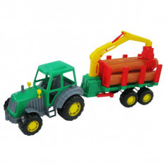 Tractor Altay cu remorca si lemne 60 cm