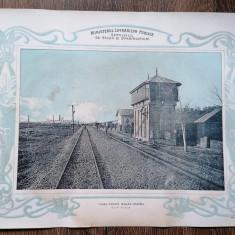 Plansa Gara Buhus/Patata Calea ferata Bacău Piatra