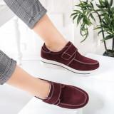 Pantofi dama Piele casual visinii Alassy