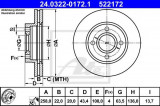 Disc frana FORD COURIER (J3, J5) (1996 - 2016) ATE 24.0322-0172.1
