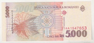 bnk bn Romania 5000 lei 1998 unc foto