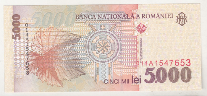 bnk bn Romania 5000 lei 1998 unc