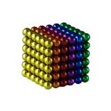 Joc de indemanare, bile magnetice, 216 bucati, multicolor