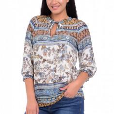 Bluza Dama cu Imprimeu combinat Albastru