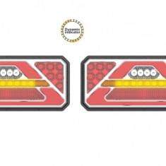 Set Lampi stop camion LED cu semnalizare dinamica SL-5015 12-24V
