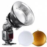 Beauty-dish pentru blitz pe patina cu adaptor universal, FalconEyes