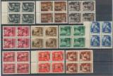 Ardealul de Nord 1945 emisiunea locala Oradea I lot 10 timbre bloc 4 MNH tipul I