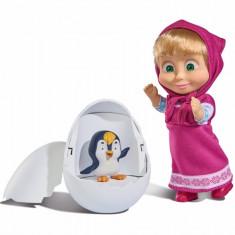 Set de joaca papusa Masha si pinguin In ou, 12 cm