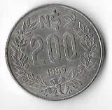 Moneda 200 pesos 1989 - Uruguay