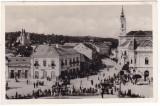 # Z.2275 Romania, Zilah, Zalau carte postala foto necircul. 1940: Centru, animat