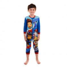 Pijama salopepta baieti Paw Patrol albastra