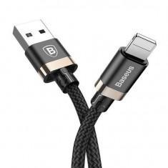 Cablu Iphone XS, Iphone XS Max 2A 1m - Baseus Golden Belt Negru